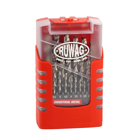 Ruwag 25 Piece Grip Box Industrial Metal Drill Set