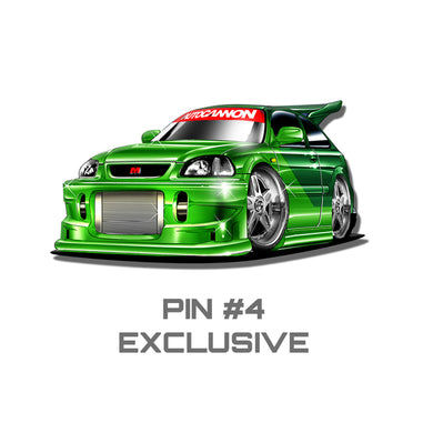 Collectors Pin - GREEN MAX BOOST CIVIC EK Hatch