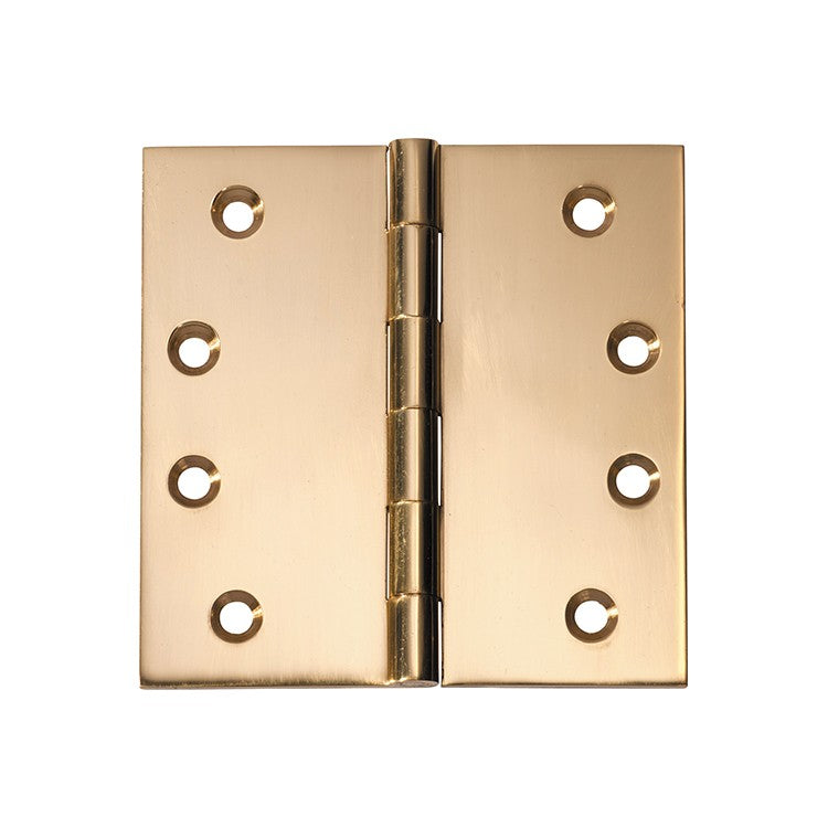 Polished Brass Butt Hinge Fixed Pin (Multiple Sizes)
