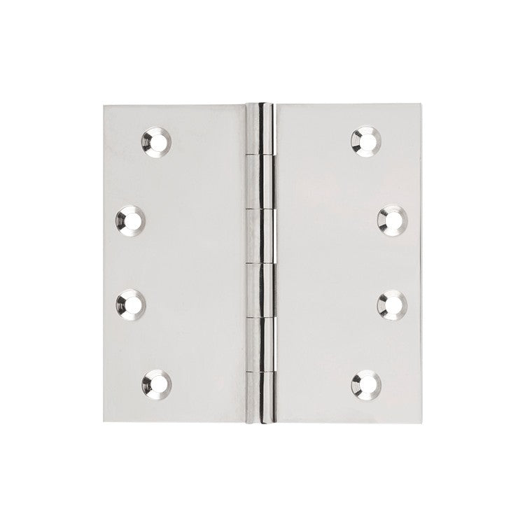 Polished Nickel Butt Hinge Fixed Pin (Multiple Sizes)