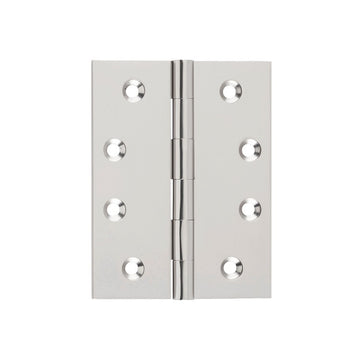 Satin Nickel Butt Hinge Fixed Pin (Multiple Sizes)