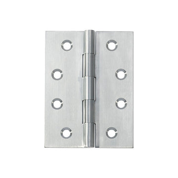 Satin Chrome Butt Hinge Fixed Pin (Multiple Sizes)
