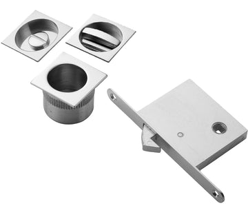 Square Privacy Flush Pull Set (Multiple Finishes)