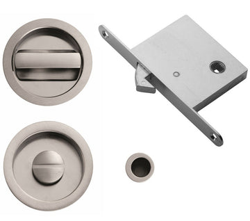 Round Privacy Flush Pull Set (Multiple Finishes)