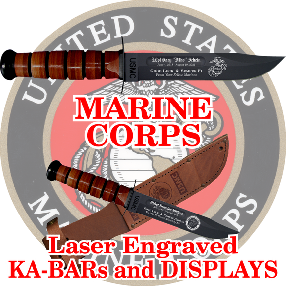 MARINE CORPS KA-BARs and DISPLAYS