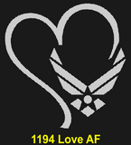 "AF84B - AIR FORCE Comm - ""ONE OVER ALL"" + YOUR PERSONAL ENGRAVING ON THE BACK"