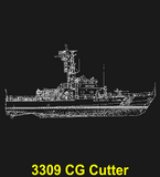 "CG86B - COAST GUARD Comm - ""WITH HONOR SINCE 1790"" + YOUR PERSONAL ENGRAVING ON THE BACK"