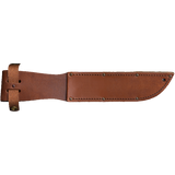 CG03L - COAST GUARD KA-BAR - LASER ENGRAVED - BACK SIDE - LEATHER HANDLE