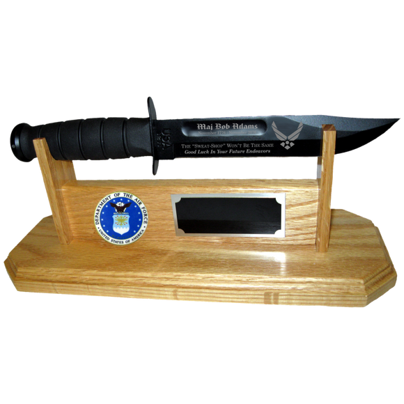 AF40 - AIR FORCE STAND-UP - LIGHT OAK (KA-BAR not included)