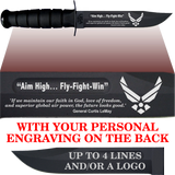 "AF80B - AIR FORCE Comm - ""AIM HIGH"" + YOUR PERSONAL ENGRAVING ON THE BACK"