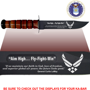 "AF80L - AIR FORCE Commemorative - ""AIM HIGH - FIGHT TO WIN"" - Leather"