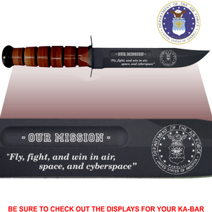 "AF82L - AIR FORCE Commemorative - ""OUR MISSION"" - LEATHER HANDLE"