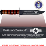 "AF84L - AIR FORCE Commemorative - ""ONE OVER ALL"" - LEATHER HANDLE"