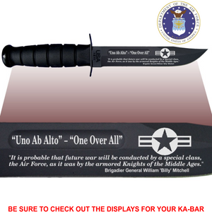 "AF84 - AIR FORCE Commemorative - ""ONE OVER ALL"" - BLACK HANDLE"