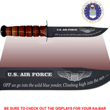 "AF86L - AIR FORCE Commemorative - ""OFF WE GO"" - LEATHER HANDLE"