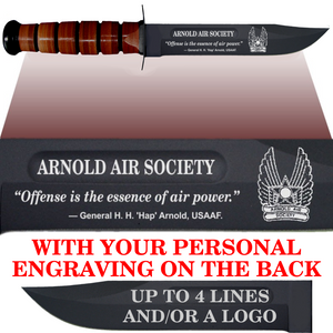 "AF88BL - AIR FORCE Comm - ""ARNOLD AIR"" + YOUR PERSONAL ENGRAVING ON THE BACK - Leather"