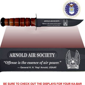 "AF88L - AIR FORCE Commemorative - ""ARNOLD AIR SOCIETY"" - Leather"