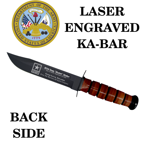 AR03 - ARMY KA-BAR - LASER ENGRAVED - BACK SIDE