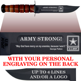 "AR80B - ARMY Comm - ""ARMY STRONG"" + YOUR PERSONAL ENGRAVING ON THE BACK"