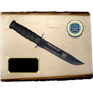 CG68 - COAST GUARD BASSWOOD PLANK (KA-BAR not included}