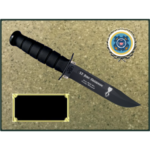 CG76 - COAST GUARD KORINITE OATMEAL PLAQUE (KA-BAR not included)