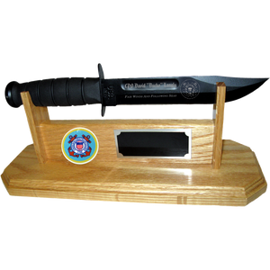 CG40 - COAST GUARD STAND-UP - LIGHT OAK (KA-BAR not included)