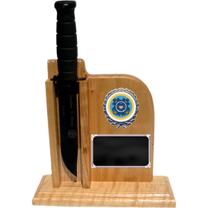 CG52 - COAST GUARD UP-RIGHT - LIGHT OAK (KA-BAR not included)