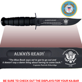 "CG80 - COAST GUARD Commemorative - ""ALWAYS READY"" - BLACK HANDLE"