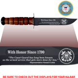"CG86L- COAST GUARD Commemorative - ""WITH HONOR SINCE 1790"" - LEATHER"