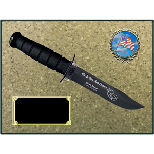 CV76 - CIVILIAN KORINITE OATMEAL PLAQUE (KA-BAR not included)