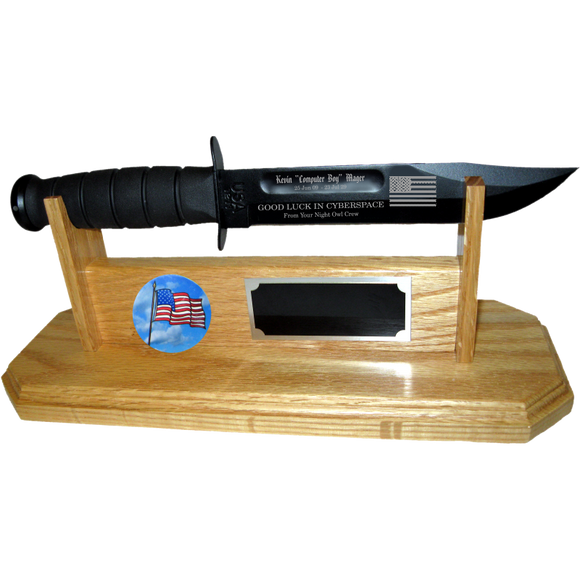 CV40 - CIVILIAN STAND-UP - LIGHT OAK (KA-BAR not included)