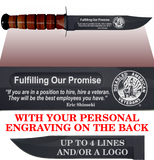 "CV84BL - CIVILIAN Comm - ""FULFILLING OUR PROMISE"" + YOUR PERSONAL ENGRAVING ON THE BACK - LEATHER"