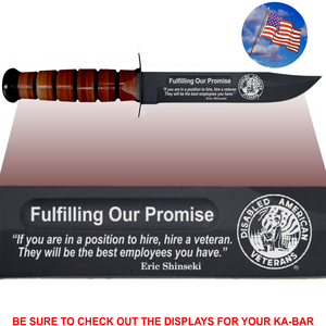 "CV84L - CIVILIAN Commemorative - ""FULFILLING OUR PROMISE"" - LEATHER"