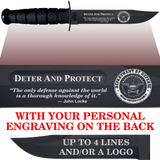 "CV86B - CIVILIAN Comm - ""DETER AND PROTECT"" + YOUR PERSONAL ENGRAVING ON THE BACK"