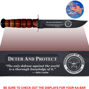 "CV86L - CIVILIAN Commemorative - ""DETER AND PROTECT"" - LEATHER"