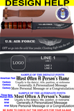 "AF86BL - AIR FORCE Comm - ""OFF WE GO"" + YOUR PERSONAL ENGRAVING ON THE BACK - Leather"