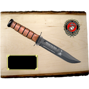 MC68 - MARINE CORPS BASSWOOD PLANK (KA-BAR not included}