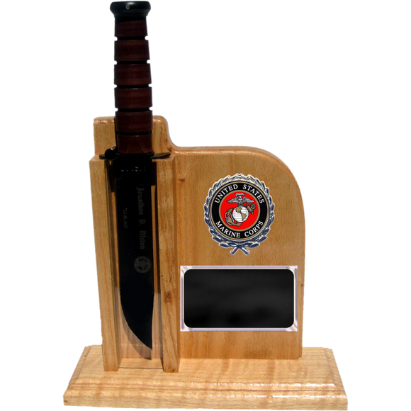 MC52 - MARINE CORPS UP-RIGHT - LIGHT OAK (KA-BAR not included)