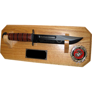 MC12 - MARINE CORPS WALL MOUNT - LIGHT OAK (KA-BAR not included)