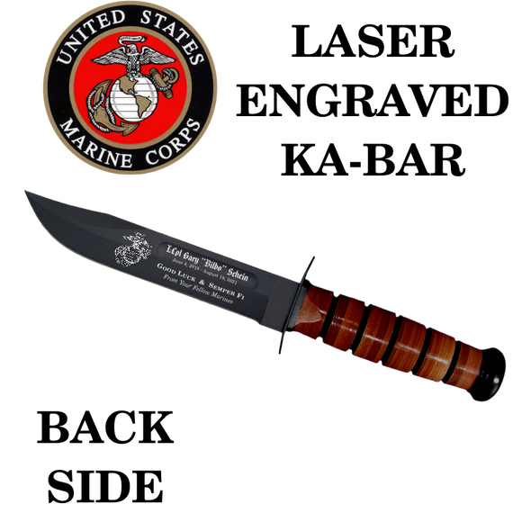 MC03 - MARINE CORPS KA-BAR - LASER ENGRAVED - BACK SIDE