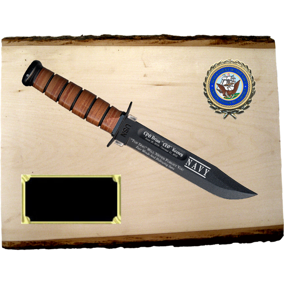 NA68 - NAVY BASSWOOD PLANK (KA-BAR not included}