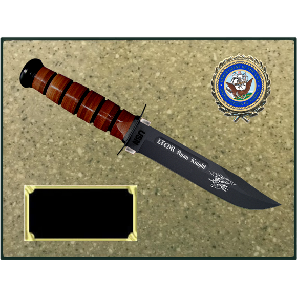 NA76 - NAVY KORINITE OATMEAL PLAQUE (KA-BAR not included)