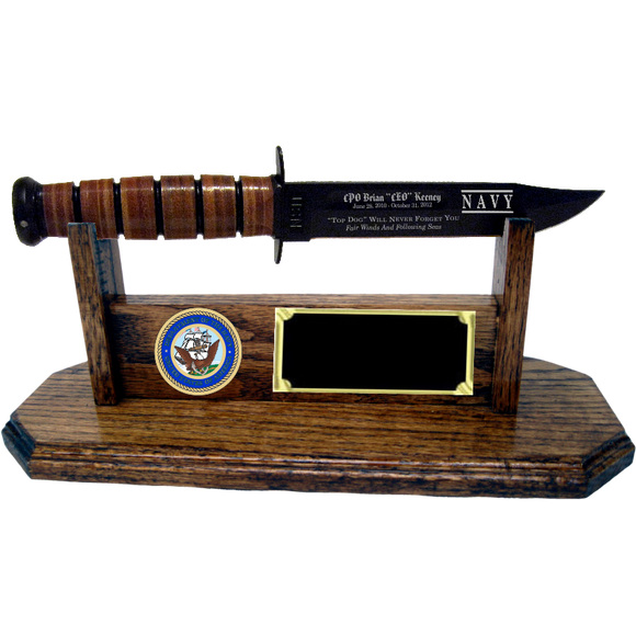 NA08 - NAVY STAND-UP - HONEY OAK (KA-BAR not included)