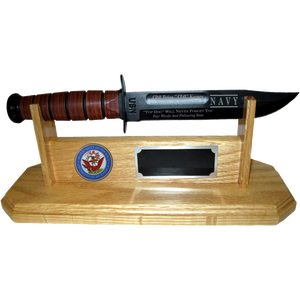 NA40 - NAVY STAND-UP - LIGHT OAK (KA-BAR not included)