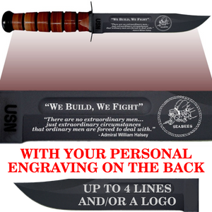 "NA84B - NAVY Comm - ""WE BUILD WE FIGHT"" + YOUR PERSONAL ENGRAVING ON THE BACK"