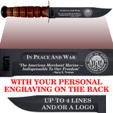 "NA86B - NAVY Comm - ""IN PEACE AND WAR"" + YOUR PERSONAL ENGRAVING ON THE BACK"