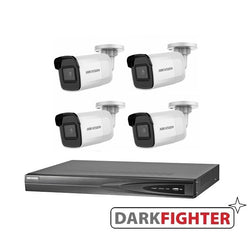 4 x Hikvision 6MP DarkFighter Mini Bullet Camera Kit