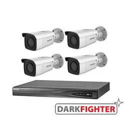 4 x  Hikvision 6MP DarkFighter Bullet Outdoor Camera Kit