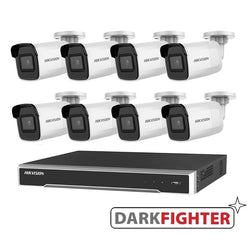 8 x  Hikvision 6MP DarkFighter Mini Bullet Cameras Kit