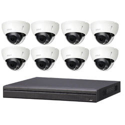 DKD888 Dahua 8CH CCTV Kit Installed - 8 x 8MP Dome IPC + NVR